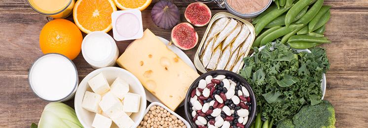 נוכל למצוא סידן בכמות רבה בשקדים, בדגנים דוגמת אמרנט וטף, בקטניות דוגמת חומוס ושעועית אדומה, באגוז מקדמיה, שומשום וטחינה, טופו, סרדינים, במוצרי חלב וביוגורט בפרט, שהרכבו מאפשר ספיגה טובה של סידן.