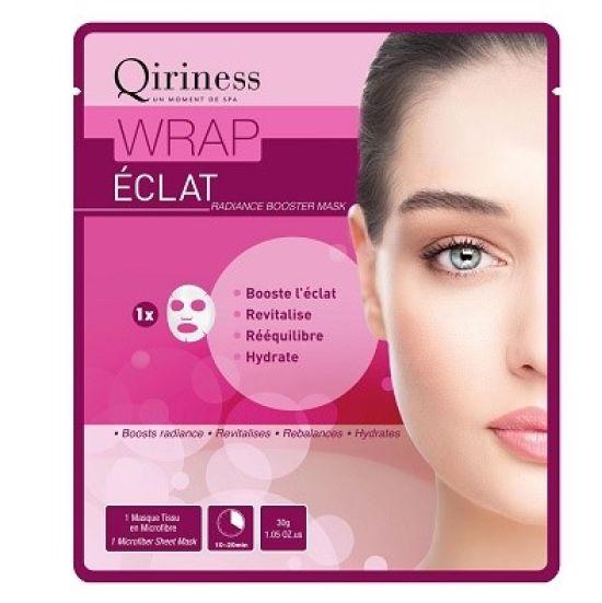 קירינס, WRAP ECLAT, מסכת בד המטפלת בפיגמנטציה, מעניקה מראה זוהר ומעשירה את העור בלחות