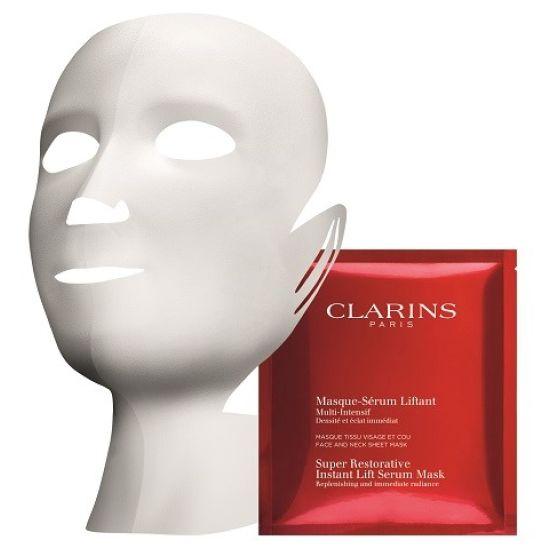 קלרינס, MULTI INTENSIVE, מסכת בד ספוגה בסרום המסייעת בחידוש העור ותורמת למראה עור זוהר
