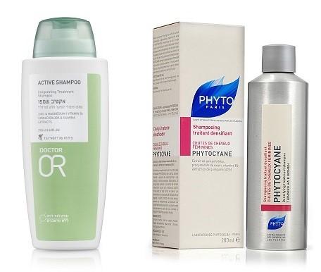 פיטוציאן, שמפו נגד נשירה של פיטו פריז. אקטיב שמפו טיפולי לשיער מידלדל של דוקטור עור.