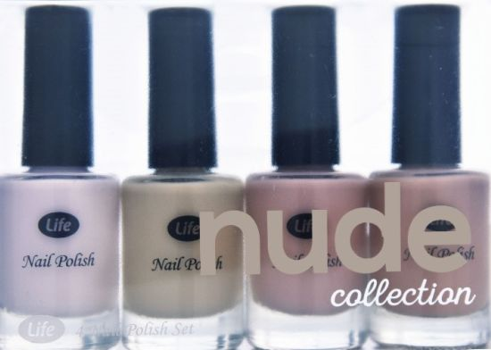 במארז הלקים nude collection של לייף מבית סופר-פארם