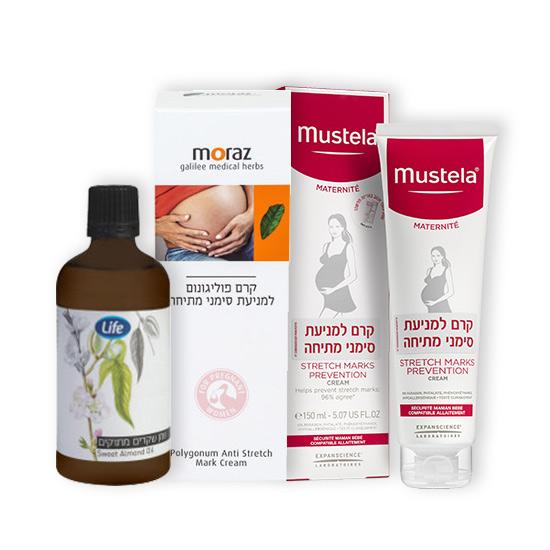 ניתן לשפר את הסיכויים שלנו להמנע מסימני מתיחה על ידי שימון העור בחומרים לחותניים