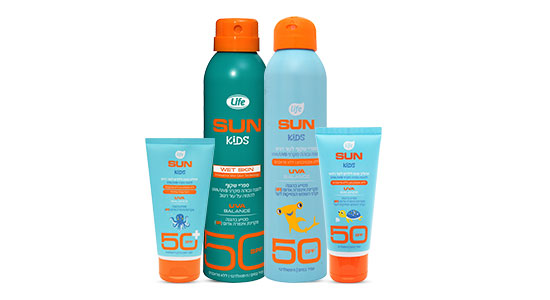 סדרת ההגנה מפני קרינת השמש של Life kids, תיתן לכם טווח הגנה רחב, עם SPF של 30-50, שיבטיח הגנה לעור העדין של הילדים.