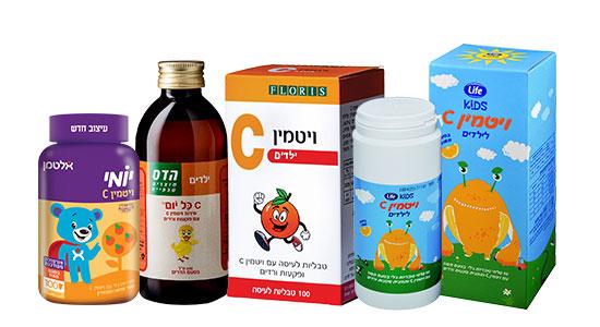 ילדים זקוקים לויטמין C לשמירה על פעילות תקינה של מערכות רבות