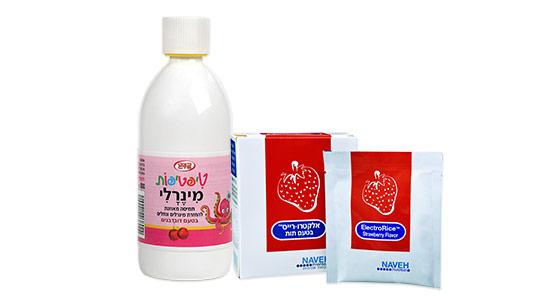 מומלץ להיעזר במוצרים המסייעים להשיב את מאזן המלחים, המינרלים והויטמינים לגוף, הקיימים גם בהתאמה לתינוקות ופעוטות.
