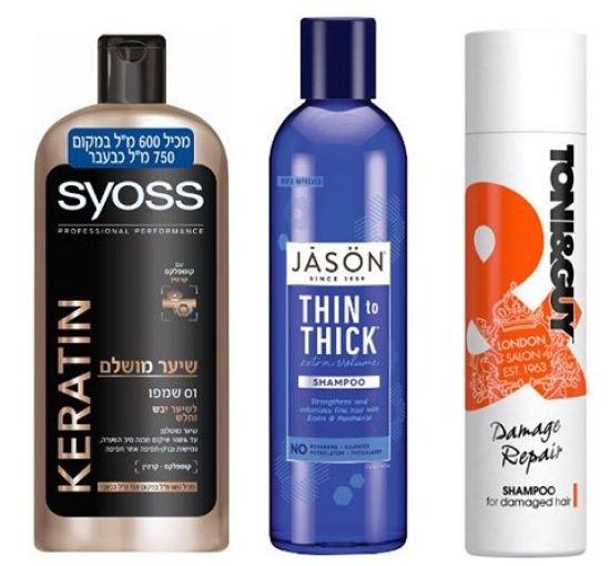 שמפו לשיער פגום של טוני&גאי | שמפו לשיער דליל של ג'ייסון| שמפו לשיער יבש וחלש של סאיוס