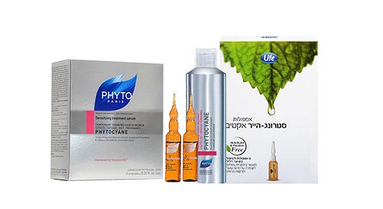 אפשר להיעזר גם בתכשירים לשימוש חיצוני המכילים רכיבים המסייעים לטיפוח השיער.
