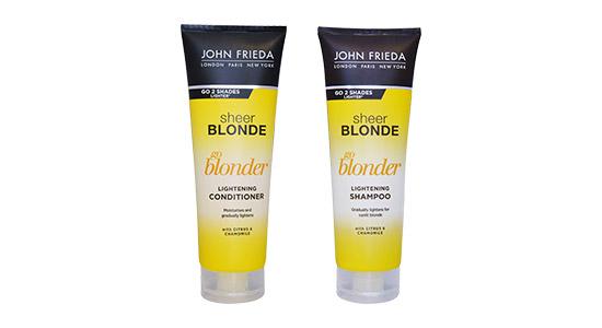 סדרת הבלונד של ג'ון פרידה לדוגמא, מציעה שמפו ומרכך ייעודיים לשיער שהובהר לבלונד והם אידיאליים לשימוש בכל ימות השנה.