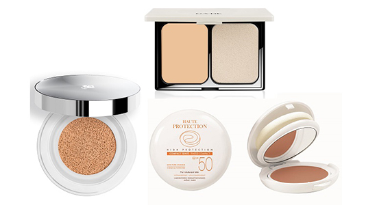 ג'ייד,  BARE SKIN COMPACT  FOUNDATION | לנקום, MIRACLE CUSHION |  אוון, COMPACT TEINTE SPF 50