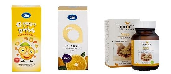 ויטמין C לילדים, ואסטר C של לייף, טבליות גרבידול ג'ינג'ר עם ויטמין C של תפוח