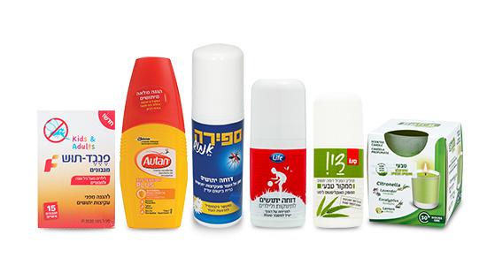 אפשר להיעזר בתכשירים למריחה ישירה על העור, במדבקות שמכילות תרכובות ריח, או באלו שאפשר לטפטף או לרסס בחלל הבית