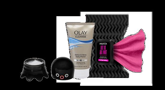 טיפוח לילה כלל: מגבונים להסרת איפור של מילוקה, סבון לניקוי פנים של OLAY וקרם לחות של טונימולי