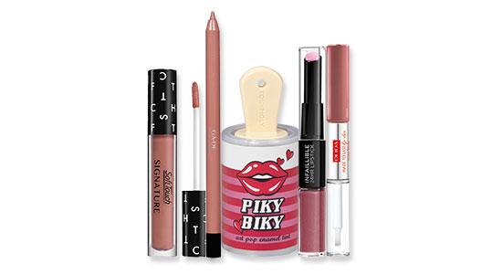 איפור שפתיים: שפתון נוזלי עמיד של טוני מולי,שפתון עמיד של לוריאל, עפרון עמיד לשפתיים של ג'ייד, , שפתון עמיד של פופה ושפתון עמיד של סופט טאץ'