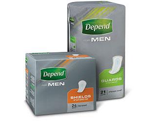 מגן תחתון ותחבושת לגברים לבריחת שתן