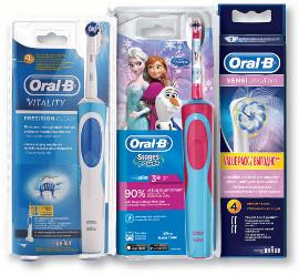 אורל בי ויטליטי מברשת שיניים חשמלית נטענת/ילדים/ראשי מילוי אריזת רביעיה