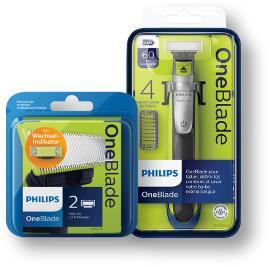 פיליפס סכין גילוח למכשיר 60 ONE BLADE/לעיצוב זיפים/מארז 2 סכינים