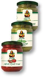 אוליביה מגוון ממרחים פסטו/עגבניות מיובשות/זיתים