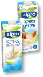 אלפרו חלב סויה/שקדים