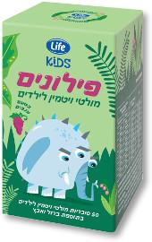 Life KIDS פילונים מולטיויטמין לילדים