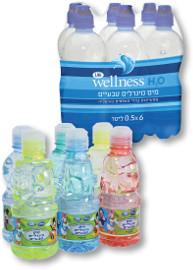 """Life Wellness מים מינרליים טבעיים/מוגזים 500 מ""""ל/דיסני 330/250 מ""""ל"""