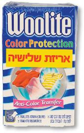 וולייט דפים למכונת כביסה למניעת העברת צבע