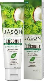 ג'ייסון משחת שיניים על בסיס שמן קוקוס ומנטה לחיזוק טבעי והלבנה