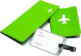 Life Travel מארז נסיעות המכיל: תג מזוודה, כיסוי דרכון ותיק מסמכים