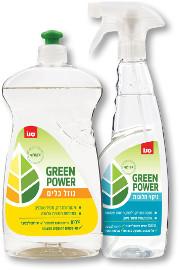 סנו GREEN POWER נוזלים אקולוגיים לכלים/אסלות/ חלונות