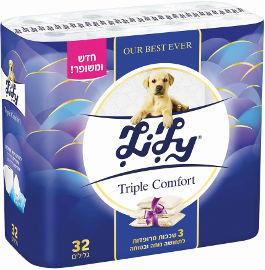 לילי TRIPLE COMFORT נייר טואלט