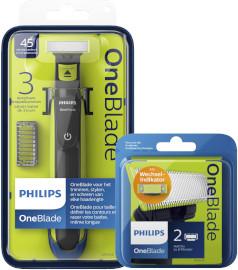פיליפס ONE BLADE מכשיר לעיצוב זיפים/ סכיני גילוח מארז זוג