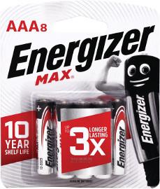 אנרג'ייזר סוללות מקס AA/AAA