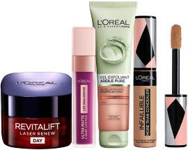L'OREAL PARIS מגוון מוצרי איפור וטיפוח