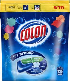 קולון101 קפסולות ג'ל לכביסה