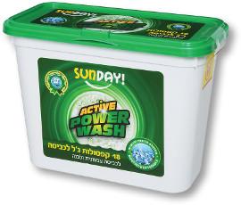 SUNDAY קפסולות ג'ל לכביסה
