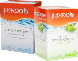 ספאטון מים המכילים ברזל בטעם תפוח/טבעי