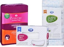 Life לייף תחתוני נייר/ רשת/תחבושות לאחר לידה