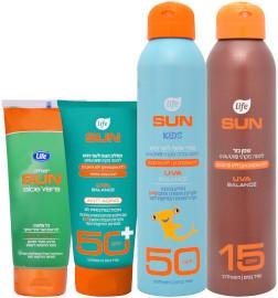 לייף SUN קונים מוצר ממגוון* מוצרי הגנה מהשמש
