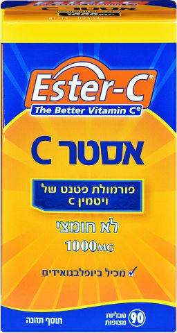 פורמולת פטנט של ויטמין C לא חומצי 1000 מ
