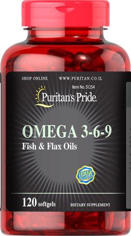 אומגה 3-6-9 שמן דגים ופשתן