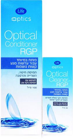 לייף ערכה לטיפול בעדשות קשות OPTICAL RGP