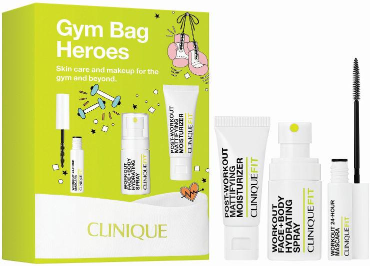 GYM BAG HEROES סט תחליב לחות במרקם ג'ל + מסקרה + תכשיר לחות לפנים