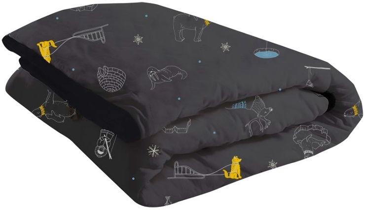 שמיכה עם מילוי לעריסה שחור מתחת לאפס