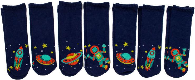 מארז 7 זוגות גרבי מיקס חלל לילדים