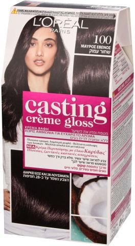 צבע שיער למראה מבריק ועשיר בגוון 100 שחור עמוק