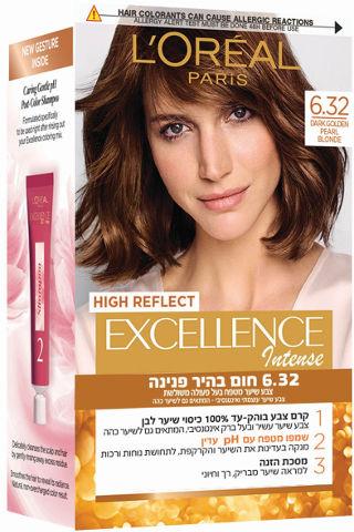 צבע שיער קבוע לטיפוח עשיר בגוון 6.32 חום בהיר זהוב פנינה
