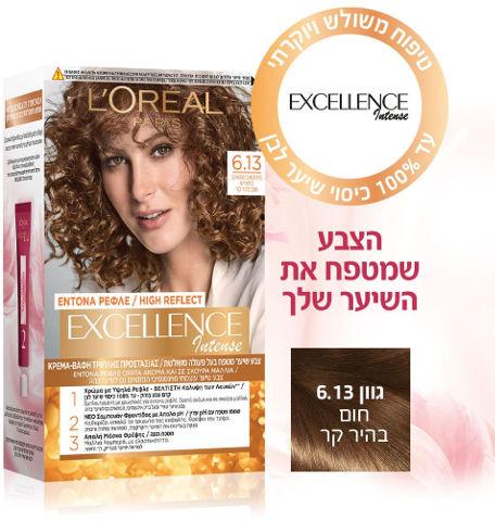 צבע שיער קבוע לטיפוח עשיר בגוון 6.13 חום בהיר קר