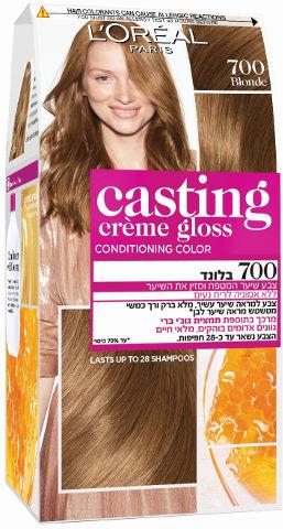 צבע שיער ללא אמוניה למראה מבריק ועשיר בגוון 700 בלונד