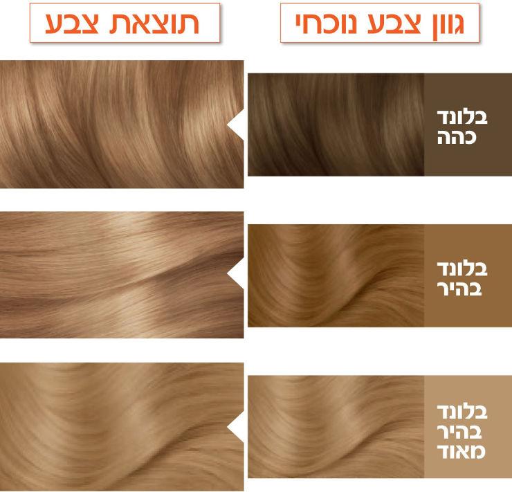 צבע לשיער קולור נטורלס 8 בלונד בהיר