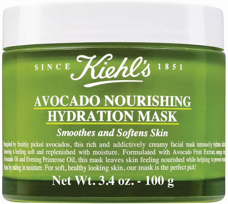 HYDRATION מסכת אבוקדו להזנת עור הפנים בלחות לכל סוגי העור