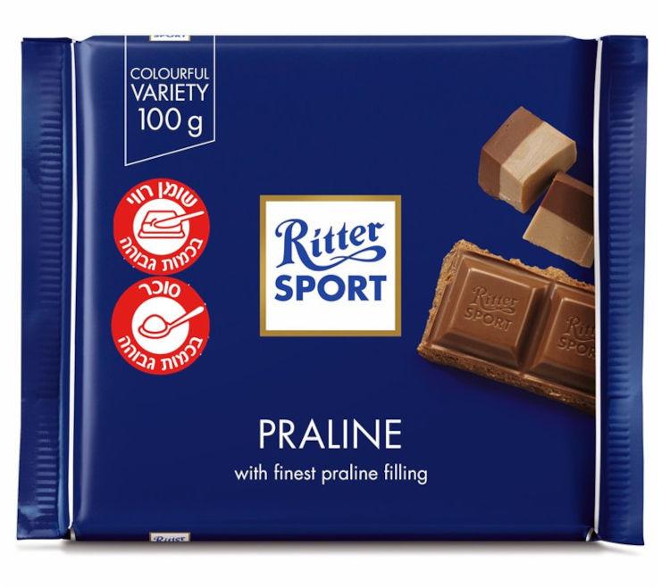 שוקולד חלב מעולה ממולא קרם פרלין